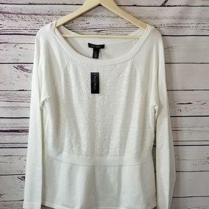 White house black market XL cream sweater